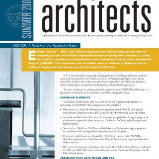 California Architects Board newsletter