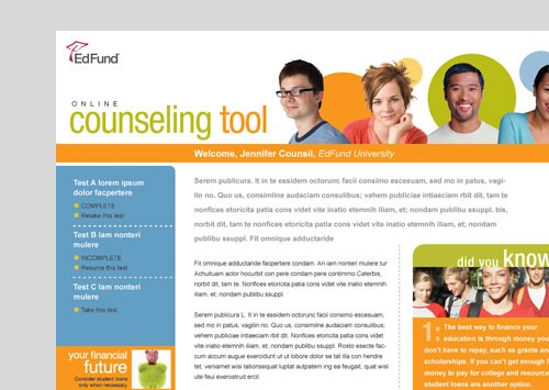 EDFUND <br /> online counseling tool