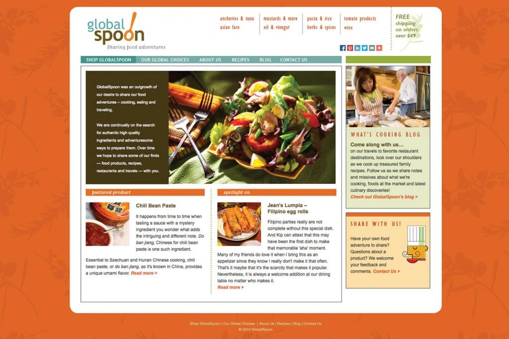 GlobalSpoon website design